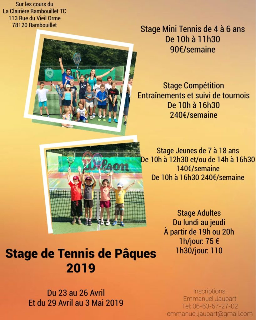 stagesPaques2019